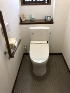 交換後のトイレ